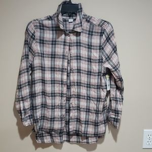 Melrose and Market Raw Hem Button Up Shirt